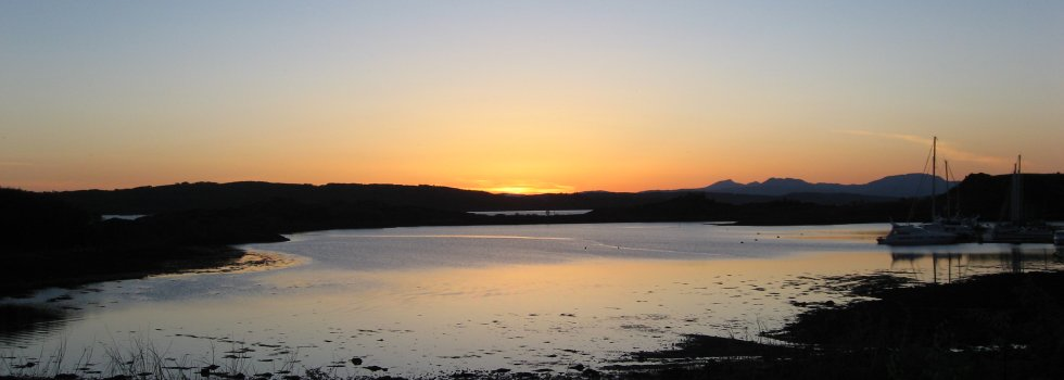 View across the bay at Craobh Haven
