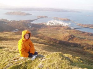 Kay Young on Mullach Dubh