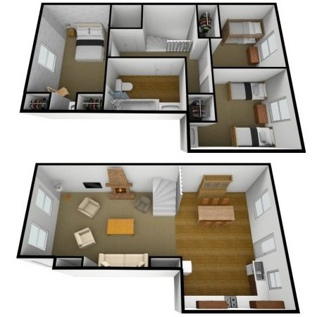 Jura Cottage Floorplans